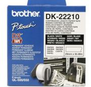 BANDA CONTINUA HARTIE 29MM BLACK ON WHITE DK22210 ORIGINAL BROTHER P-TOUCH QL-1050