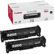 TWIN PACK CARTUS TONER BLACK CRG-718 2X3,4K ORIGINAL CANON LBP 7200CDN